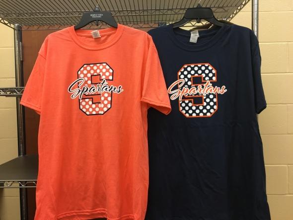 Orange & Navy S Tshirts